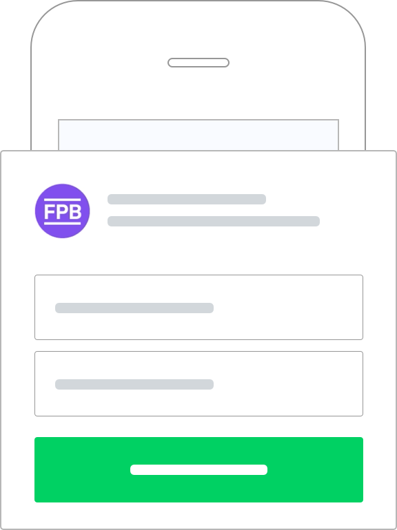 Sign up and connect to your bank account